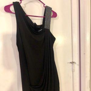 Bedazzled Shoulder Dress
